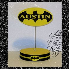 Batman stand - lollipops or cakepops stand - batman party decoration - personalized name