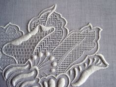 Pulled thread work. http://lynxlace.com/images/TatianaTara2.jpg