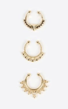 A royal collection of tribal septum rings, which to wear today?| MakeMeChic.com