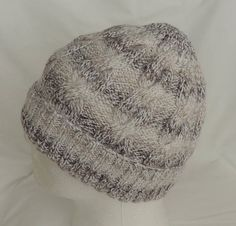 Men's / Women's Beige and White Hand Knitted Cable