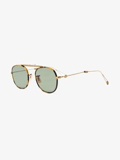 61b369f57c AW 18 Eyewear · These tonal-brown Garrett Leight foldable  tortoiseshell-frame  Van Buren  sunglasses are