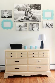 Contrast your wall art with black and white photos to create a chic look for a gallery wall using the Shutterfly Design-a-Wall tool. Follow @madetobeamomma