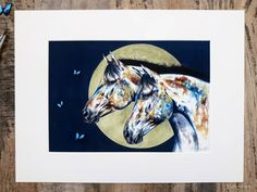 LUNAR RELEASE 🌒🌓🌔🌕🌖🌗🌘  (Sold Out) I'm please to present a very limited edition morpho release; 🦋 Hand-finished with touches of bronze pigment powder on the horses face 🦋 3 handmade 3D archival butterflies. 🦋 Printed using a fine art printer on an archival matte St Cuthberts watercolour fine art paper. 🦋   #horse #horserider #horsepainting #contemporaryart #contemporaryartists #london. Contemporary Artwork, Contemporary Artists, St Cuthbert, Chloe Brown, Horse Face, Pigment Powder, Pet Portraits, Fine Art Paper, Watercolour