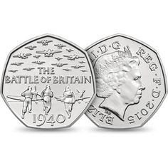 Royal Mint Marks 75 Years Since Battle of Britain with Precious Metal Coins - Coin Community Forum Rare Coins, Us Coins, English Coins, Battle Of Britain, Britain Uk, Silver Investing, 50p Coin, Coin Design, Coin Worth