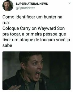 Carry On My Wayward Soooonnn Supernatural Series, Supernatural Funny, John Winchester, Destiel, Jesen Ackles, Dean Castiel, Spn Memes, Brothers Conflict, Netflix