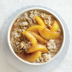 Vanilla Amaranth with Peach Compote | CookingLight.com #mplate #fruit #wholegrain #dairy
