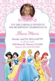 Disney Princesses invite