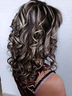 Image result for brown and platinum foilyage highlights