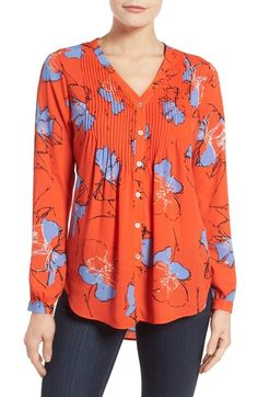 Women's New Arrivals: Clothing, Shoes & Beauty V Neck Blouse, Pin Tucks, Red Purple, Cute Tops, Best Brand, Floral Prints, Nordstrom, Tunic Tops, Sweaters