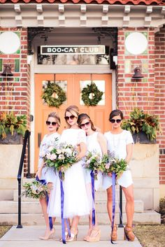 Fun Retro Bridal Party Inspiration | Alex Nardulli Photography on @glamourandgrace via @aislesociety