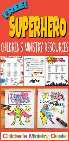 Superhero Bible Lessons and Free Resources for Children's Ministry Sunday School Themes, Sunday School Activities, Bible Activities, Sunday School Lessons, Group Activities, Superhero School Theme, Superhero Classroom, Superhero Kids, Childrens Ministry Deals