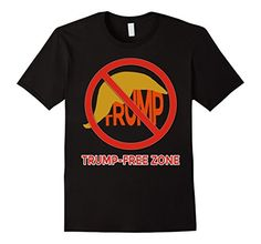 TRUMP FREE ZONE Tshirt by Scarebaby Design - http://www.amazon.com/dp/B01AKSFMQ8/ref=cm_sw_r_pi_dp_pRTLwb04PNH3F  #donaldtrump #antitrump #trumptee
