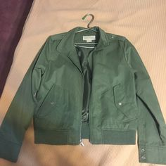 Michael Kors Jacket Never worn! Looks good as new! It's army green; raincoat material. Make me an offer! Michael Kors Jackets & Coats Utility Jackets
