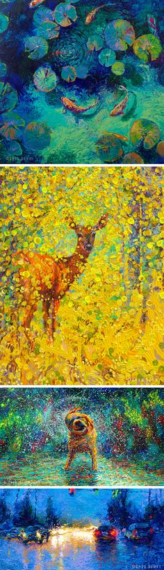 Vibrant Oil Finger Paintings by Iris Scott