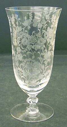 K--Tiffin-Franciscan Tiffin Rose (Etched) Iced Tea