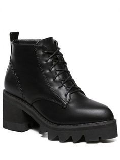 GET $50 NOW | Join RoseGal: Get YOUR $50 NOW!http://www.rosegal.com/boots/tie-up-platform-stitching-ankle-712148.html?seid=6482740rg712148