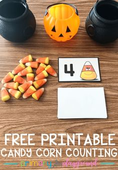 free printable candy corn counting cards free printable candy corn counting cards #candycorn #candycornmath #kindergarten #preschool #halloweenmath