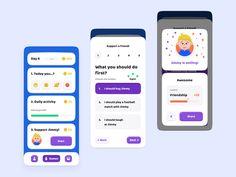 Tutio App — Design Concept designed by Artur Abrarov for Redmadrobot. Ui Design Mobile, App Ui Design, Web Design Trends, Interface Design, Android Design, Mobile Ui, Wireframe, Zentangle, App Design Inspiration
