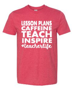 fc89ef47 Teacher Life T-Shirt, TeacherLife T-Shirt, Teacher T-Shirt, Funny Teacher  Shirt, Teacher Shirts, Teach Inspire, Teacher Appreciation Gift