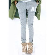 $10.65 Popular Slim Fit Zipper Drawstring Pants For Women