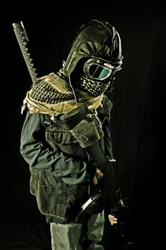 Dress for success - Zombie Apocalypse. From what I've seen of zombies, some shin guards on the wrists and a catcher's chest pad might complete this.