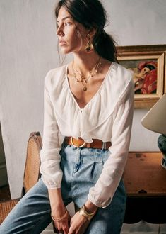 Bohemian Tops, Looks Style, My Style, How To Style, Boho Chic Style, French Style, Image Mode, Moda Boho, Outfits