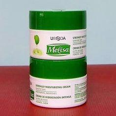 Crema facial hidratante intensivo úroda Melisa con ácido hialurónico, alantoína y el té verde para todo tipo de piel 50ml frasco.