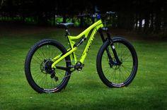 - custom bike from bikeinsel.com -  #SantaCruz #Bronson #Bikeinsel Santa Cruz Bronson, Custom Bikes, Mountain Biking, Cycling, Bee, Vehicles, Dirt Biking, Yellow, Bicycles