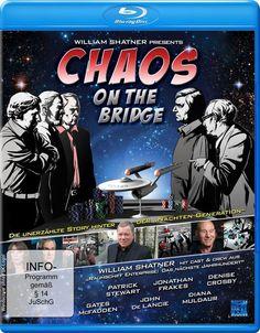 CHAOS ON THE BRIDGE BLU-RAY w/WILLIAM SHATNER (Star Trek The Next Generation)
