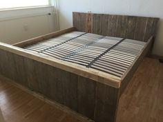 2 persoons steigerhouten bed