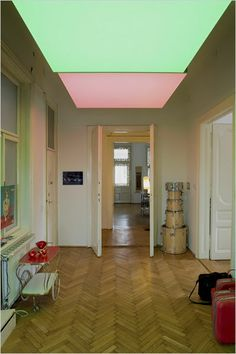 Cool lighting installation on the ceiling. And the floors are amazing, of course.