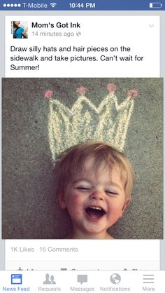 Chalk Crowns. For the princess obsessed little girl in our house.
