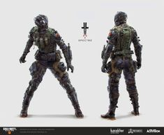 ArtStation - Call of Duty Black Ops 4 - Specialists, Kirill Barybin Character Concept, Character Art, Concept Art, Character Design, Aliens, Combat Armor, Futuristic Armour, Sci Fi Armor, Future Soldier