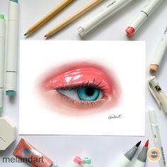 Realistic Eye Drawing, Eyes Artwork, Prismacolor, Art Sketches, Artworks, Lipstick, App, Digital, Create