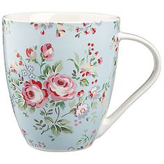 Buy Cath Kidston Crush Mug, Chelsea Rose, Blue online at JohnLewis.com - John Lewis