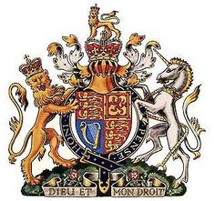 """British """"Coat-of-Arms"""" The only people represented today by the lion and unicorn together are the British people. The Royal coat of arms has on one side of the central shield a crowned lion representing a royal kingdom, and on the other side a unicorn with a chain around it representing strength. Read NUMBERS 24: 5-9...pretty interesting."""