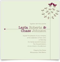 Tree Top Love - Square Wedding Invitation