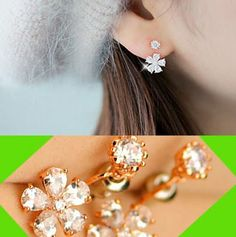 Sparkly Daisy Rhinestone Wrapping Earrings   LilyFair Jewelry, $19.99!