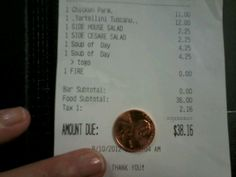 A penny for a togo order? What a life!!!!!!