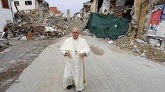 Ιταλία O Πάπας Φραγκίσκος κοντά στους σεισμόπληκτους του Αματρίτσε - euronews