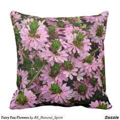 Spruce Up Your Place with a Fairy Fan Flowers throw pillow! See more @ https://www.zazzle.com/z/ygv3f?rf=238562247198752459 #Decor #Home #Flowers #Pink #Pretty #Fairy #Pillow