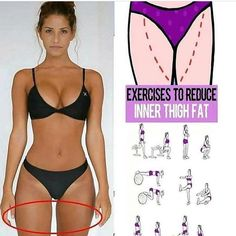The thighs are a region that most women love to hate. And while you can't spot reduce (heard that before?), you can develop more lean muscle in a targeted area. When combined with a healthy diet and overall fat loss, these 10 leg toners can result in a lo Fitness Workouts, Fun Workouts, At Home Workouts, Fitness Tips, Fitness Motivation, Daily Workouts, Workout Tips, Workout Exercises, Fitness Goals