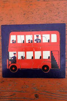 vintage wooden puzzle london