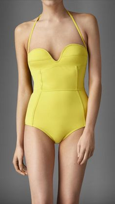 burberry-bright-citrine-corset-detail-swimsuit-  #collectivestyle