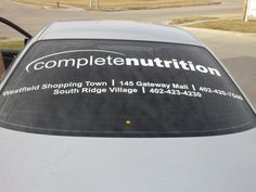 Vinyl Graphic Overlay for Complete Nutrition!