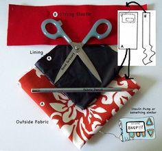 Instructions for making a garter for an insulin pump.