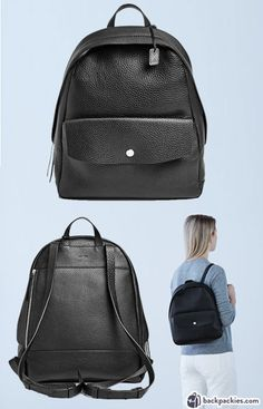 45f8e937bf 6 Small Black Leather Backpacks We Love - 2018 Must Haves. Small Black  Leather BackpackWomen s ...