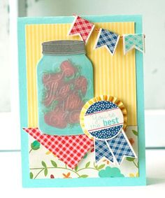 Jar Thanks Card by Betsy Veldman for Papertrey Ink (July 2013)