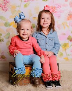 These outfits were just about as cute as the girls! | Leigh Bedokis Photography | www.bedokis.com 618-985-6016 | #SouthernIllinois #Photography