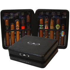 New $62.99 Online Cigar Deal: CAO CHAMPIONS SAMPLER II FREE travel humidor added to our Online Cigar Shop https://cigarshopexpress.com/online-cigar-shop/cigars/cigars-cao-samplers/cao-champions-sampler-ii/ CAO Champions Sampler II contains the only cigars rated 90 or above! 10 different blends & all packed inside an attractive Black Leather Spanish cedar-lined special CAO travel h ...